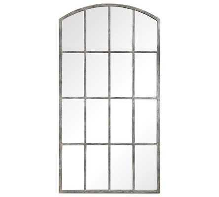 "Eva Arch Windowpane Floor Mirror, 42""W x 82""H, Ivory - Pottery Barn"
