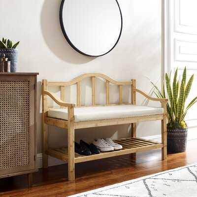 Amilleon Solid Wood Shelves Storage Bench - Wayfair