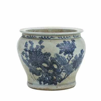 Legend of Asia Flower Pheasant Porcelain Pot Planter - Perigold