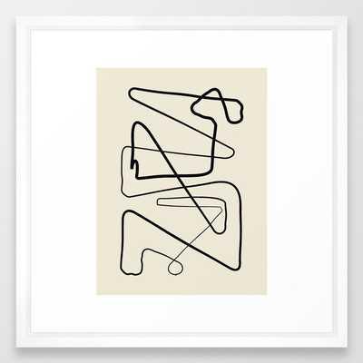 Movements Framed Art Print by Grace - Vector White - MEDIUM (Gallery)-22x22 - Society6