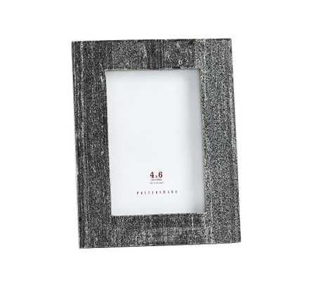 "Marble Picture Frame, Black, 4"" x 6"" - Pottery Barn"
