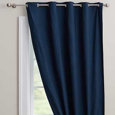 "Classic Grommet Blackout Curtain / Set of 2 / 50"" x 96"" / Navy - Pottery Barn Teen"