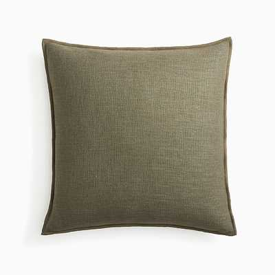 "Classic Linen Pillow Cover, 20""x20"", Dark Olive - West Elm"