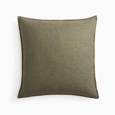 "Classic Linen Pillow Cover, 20""x20"", Dark Olive, Set of 2 - West Elm"