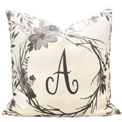 Floral Cotton Throw Pillow - Wayfair