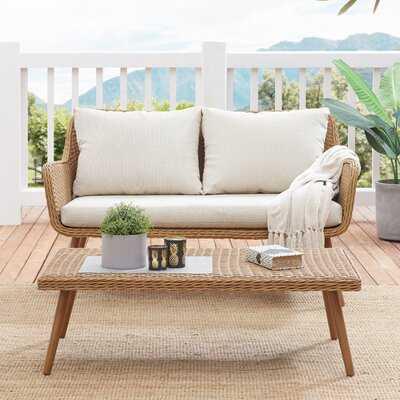 Macgregor Outdoor 2 Piece Seating Group Set with Cushions - Wayfair