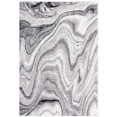 Dighton Abstract Gray Area Rug - Wayfair
