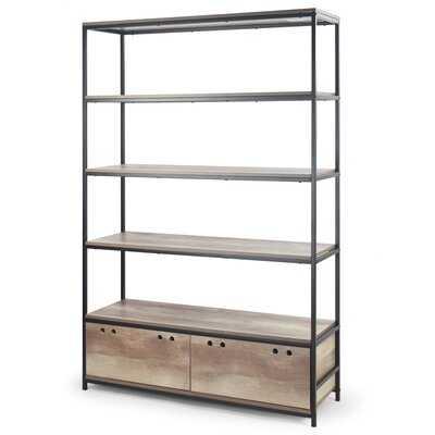 Wimbush Metal Etagere Bookcase - Wayfair