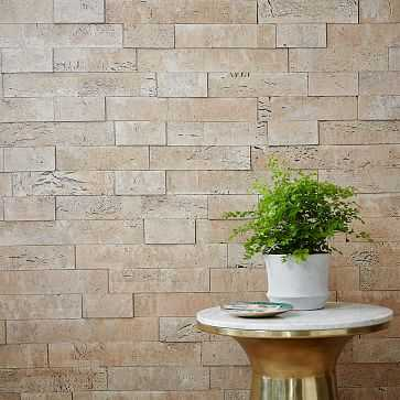Muratto Cork Wall Covering, 20' sq., White - West Elm