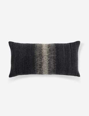 Ulsa Lumbar Pillow, Black and Gray - Lulu and Georgia