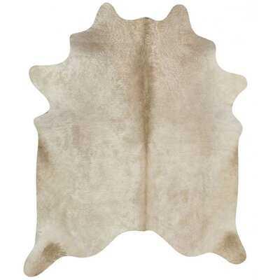 Edoardo Animal Print Handmade Cowhide Cream Area Rug - Wayfair