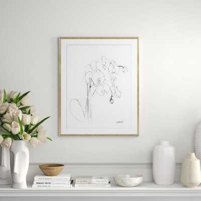 Soicher Marin 'Orchid Studies' Framed Drawing Print - Perigold