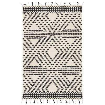 Ione Southwestern Handmade Tufted Wool Ivory/Black Area Rug - Wayfair