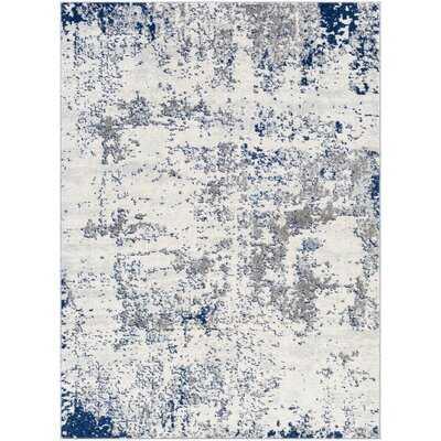 Baptista Abstract Blue/Gray/Ivory Area Rug - Wayfair