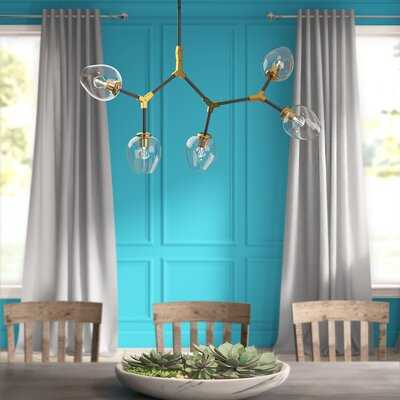 Ulrey 5 - Light Sputnik Modern Linear Chandelier - Wayfair