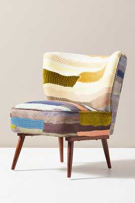 Vivie Patchwork Petite Accent Chair By Anthropologie in Assorted - Anthropologie