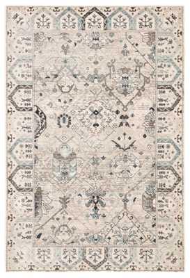 "Lennox Oriental Light Gray/ Light Blue Area Rug (8'8""X11'10"") - Collective Weavers"