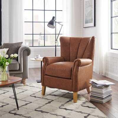 Mid-Century Modern Retro Tufted Faux Leather Armchair - Wayfair