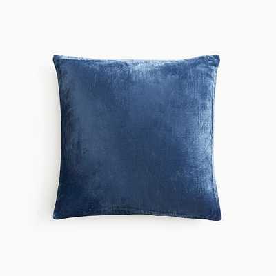 """Lush Velvet Pillow Cover, 18""""x18"""", French Blue - West Elm"""