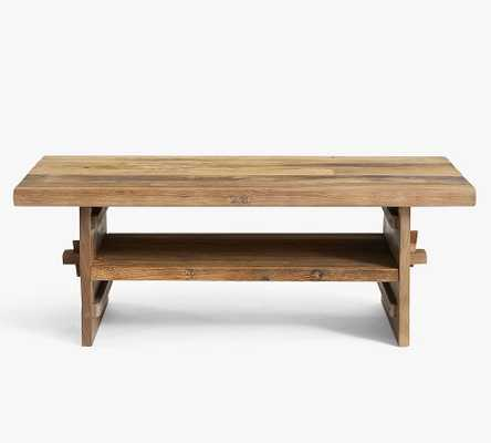 Easton Reclaimed Wood Coffee Table, Weathered Elm - Pottery Barn