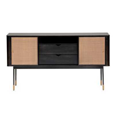 "Pembrook 59.06"" Wide 2 Drawer Poplar Wood Buffet Table - AllModern"