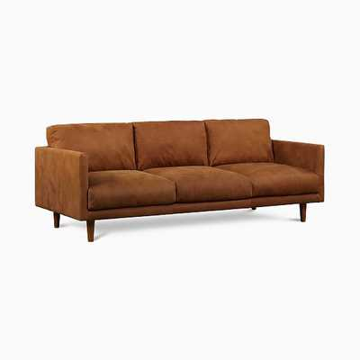 Rylan Sofa,Tan,Outback Leather,Almond - West Elm