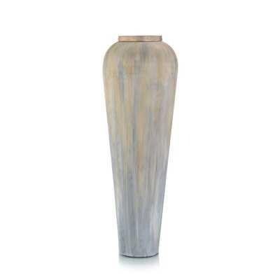 Gray/Blue/Tan 28'' Aluminum Floor Vase - Wayfair
