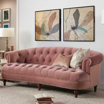 "Mowry Velvet Chesterfield 85"" Rolled Arm Sofa - Birch Lane"