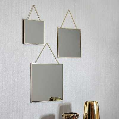 3 Piece Alyaan Asymmetric Mirror Set - Wayfair