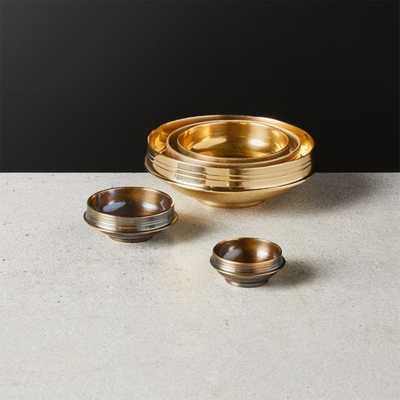 Nested Brass Bowl Set - CB2