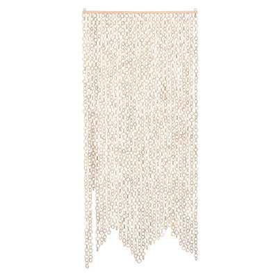 Beige Chain Link Bamboo Curtain - Moss & Wilder