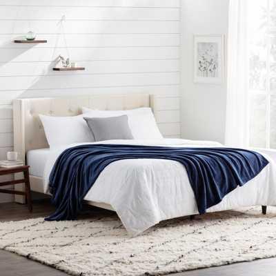 Brookside Polyester Navy Fleece Queen Blanket, Blue - Home Depot