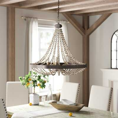 Ladonna 5-Light Crystal Empire Chandelier with Beaded Accents - Birch Lane