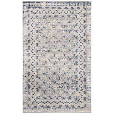 Lamartine Oriental Light Gray/Blue Rug - Wayfair