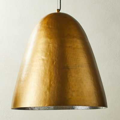 Hammered Brass Dome Pendant Light - CB2