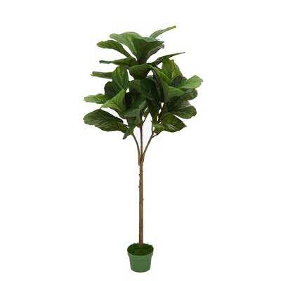 Artificial Fiddle leaf fig Tree in Planter - Wayfair