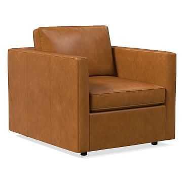 Harris Chair, Poly, Stetson Leather, Cognac - West Elm