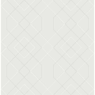 Brewster Wallcovering Ballard Silver Geometric Wallpaper Sample - Home Depot