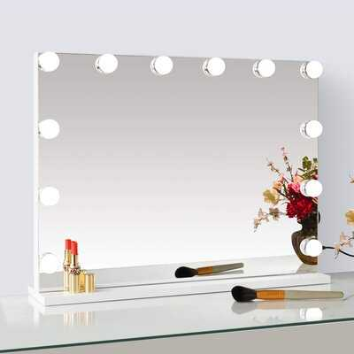 Tabletop / Wall Mounted Large Dimmable LED Hollywood Vanity Mirror With Lights And USB Charging Port For Dressing Room - Wayfair
