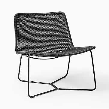 Outdoor Slope Collection Charcoal Lounge Chair - West Elm