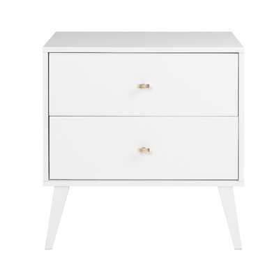 Shamar Mid Century Modern 2 Drawer Nightstand - Wayfair