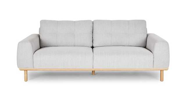 Mea Drizzle Gray Sofa - Article