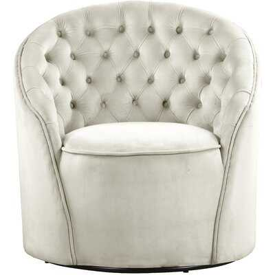 Fermin Velvet Swivel Barrel Chair - Wayfair