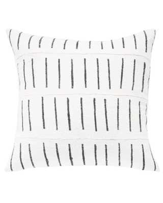 dash mud cloth pillow in white MADE TO ORDER with insert - PillowPia