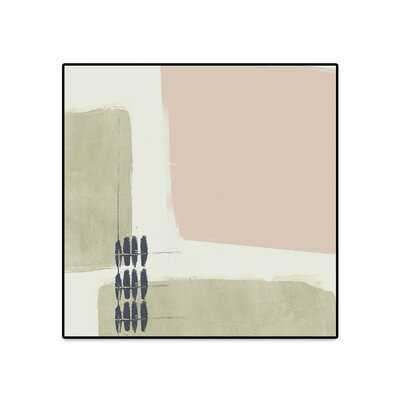 Monotype Abstraction I by Jennifer Goldberger - Floater Frame Print on Canvas - Wayfair