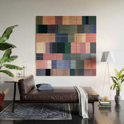 """Nordic Combination 30 A by Mareike Boehmer - Wood Wall Mural3' X 3' (Nine 12"""" Wood Squares) - Wander Print Co."""