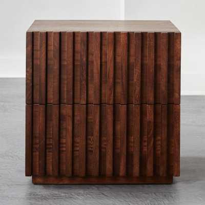 Parallel Wood Nightstand - CB2