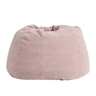 west elm x pbt Velvet Bean Bag Chair Set (Cover + Insert), Large, Distressed Velvet Light Pink - Pottery Barn Teen