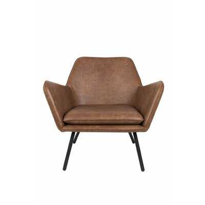 Bon Leather Accent Chair - Wayfair