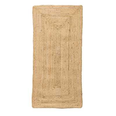Small Beige Rectangle Natural Seagrass Rug - Moss & Wilder